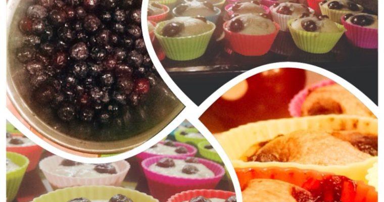 Vaníliás áfonyás muffin (cukormentes, tejmentes, vegán)