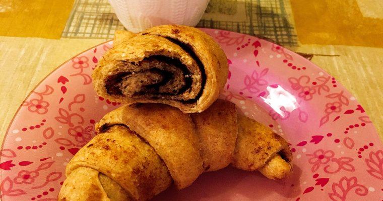 Kakaós croissant (vegán, teljes kiőrlésű, cukormentes)