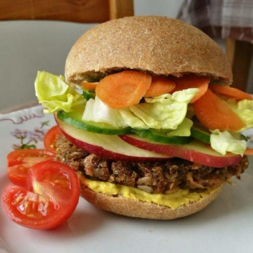 IR barát vegán hamburger