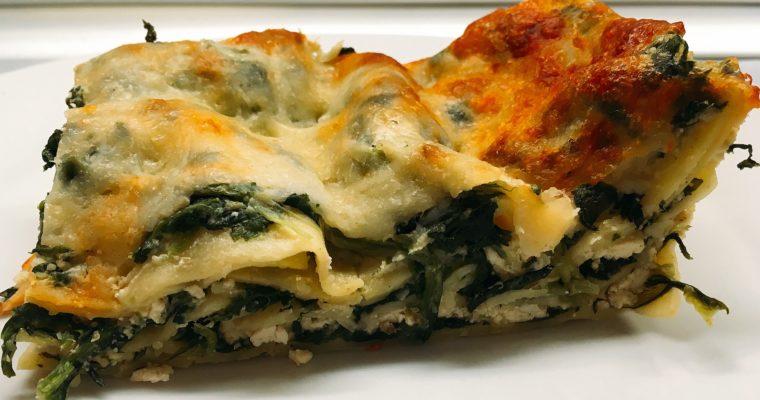 Laktózmentes, spenótos lasagne