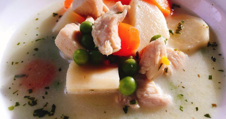 Tárkonyos csirkeraguleves (tejmentesen) és a mai menüm